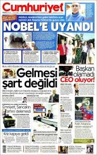 Portada de Cumhuriyet (Turkey)