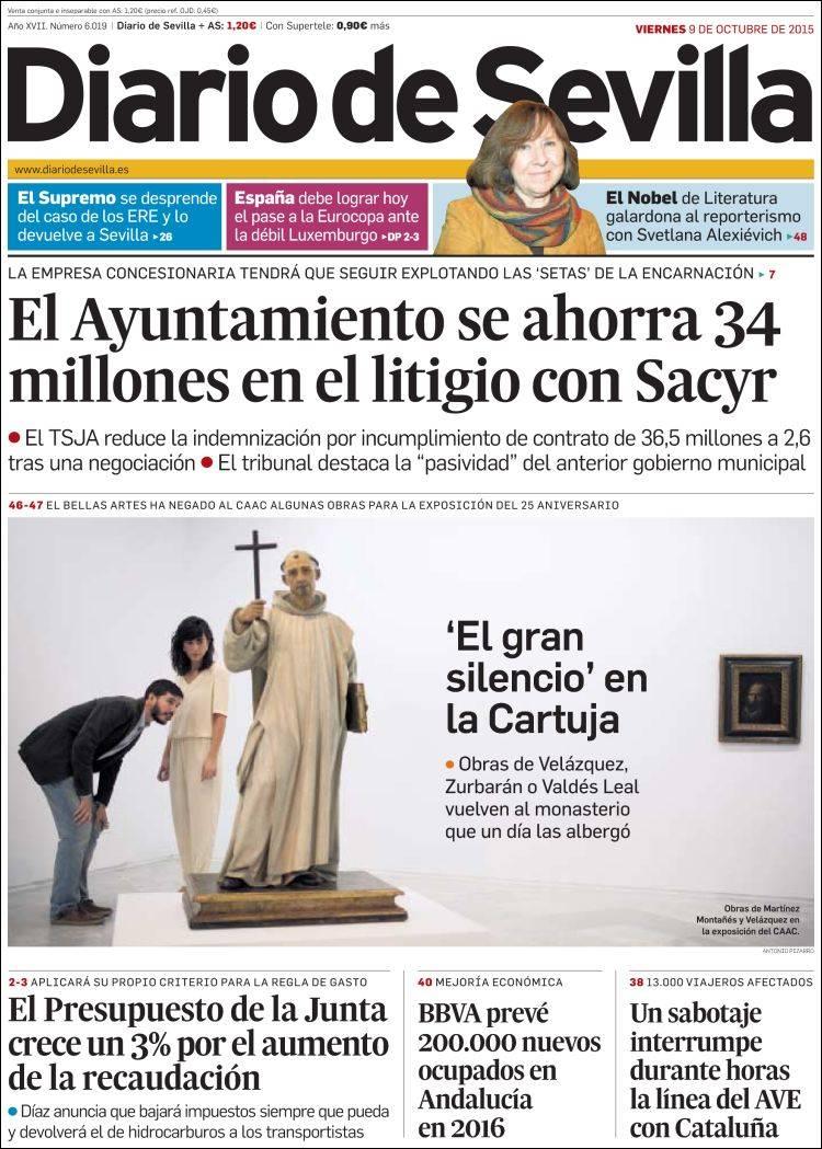 Portada de Diario de Sevilla (España)