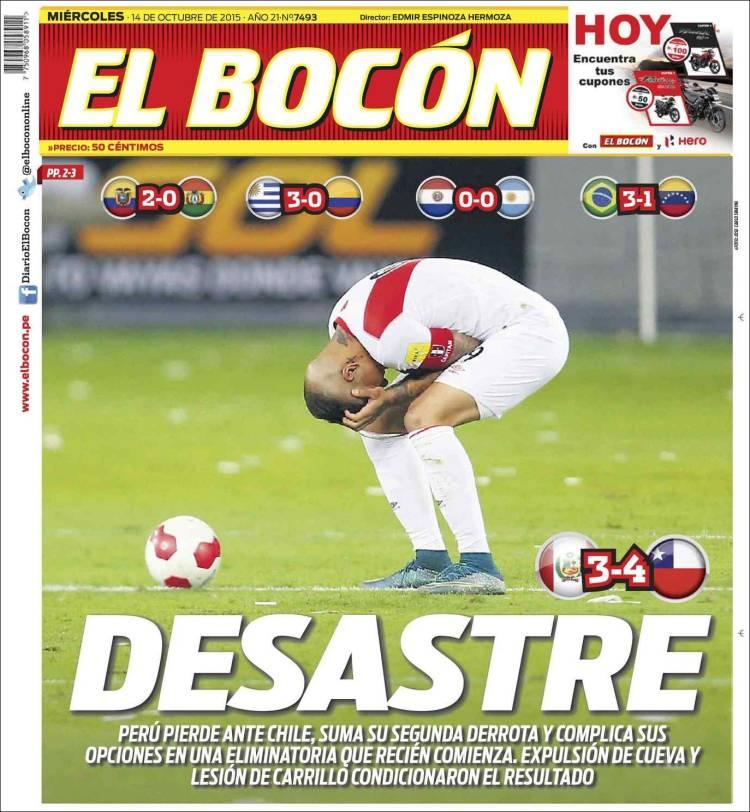 Newspaper El Bocón Peru Newspapers In Peru Wednesdays Edition