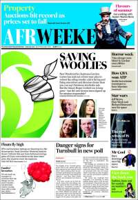 Portada de The Australian Financial Review (Australia)