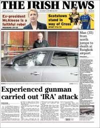 Portada de The Irish News (Ireland)