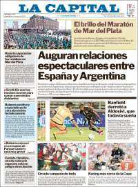 Portada de Diario La Capital - Mar del Plata (Argentina)