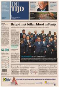 Portada de De Tijd (Belgium)
